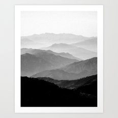 Mountain Mist - Black and White Collection Art Print
