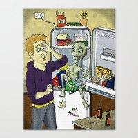 'I cum in Peas' Canvas Print