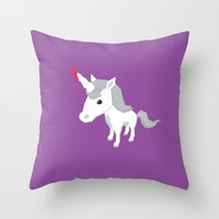 Accidental Legends: Unic… Throw Pillow