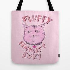 Fluffy Feminist Fury Tote Bag