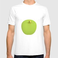 Apple 08 Mens Fitted Tee White SMALL
