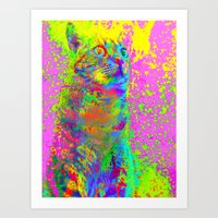 Catsplosion-Lady Jasmine Art Print