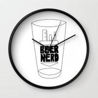 Beer Nerd Wall Clock