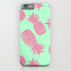 Pineapple Pattern - Mint & Crimson Slim Case iPhone 6s