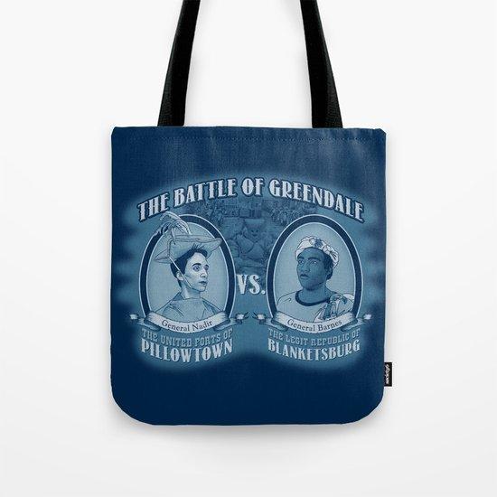 Pillowtown vs Blanketsburg Tote Bag