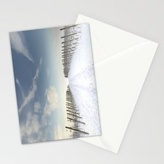 Vineyards in the snow Stationery Cards