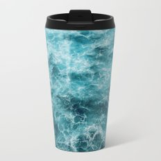 Blue Ocean Waves Travel Mug