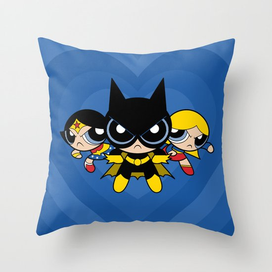 Supertough Girls Throw Pillow