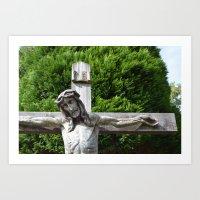 jesus Art Prints featuring Jesus by Marieken
