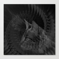 Cat Fraktal Canvas Print