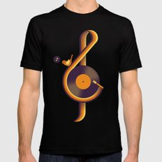 Retro Sound Mens Fitted Tee Black SMALL