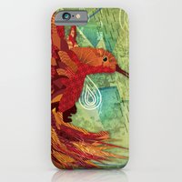 iPhone & iPod Case featuring Humming Phoenix  by UvinArt