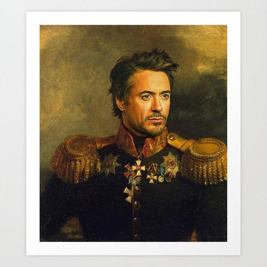Robert Downey Jr Replaceface Art Print By Replaceface