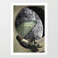 Moon Jock Art Print