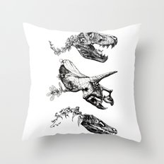 Jurassic Bloom. Throw Pillow