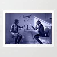 Blue Dreamer Art Print