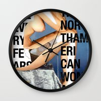The North American Woman Wall Clock