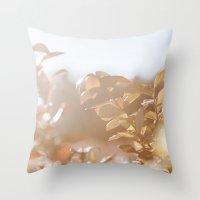 autumn on plantation Throw Pillow