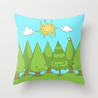 The Pine Forest Throw Pillow