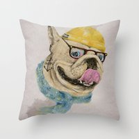 Mr.Bulldog III Throw Pillow