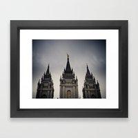 Temple Top Framed Art Print