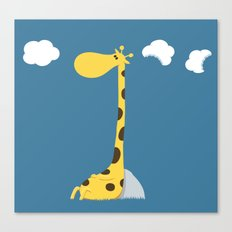 The greedy giraffe Canvas Print