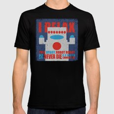 Robots Never Die SMALL Black Mens Fitted Tee