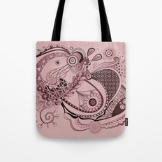 Spring tangle, plum pink Tote Bag