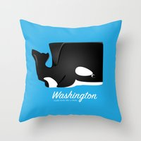 The Washington Whale Throw Pillow