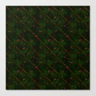 Merry Christmas All Over Canvas Print