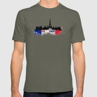 Paris Mens Fitted Tee Lieutenant SMALL