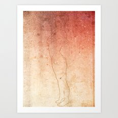 Grunge girl Art Print