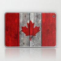 Canada Flag On Heavily T… Laptop & iPad Skin