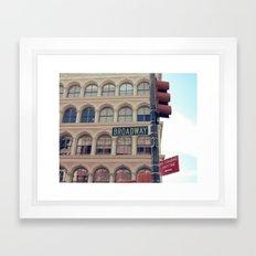 - Broadway Framed Art Print