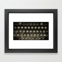 Typewriter Keys Framed Art Print