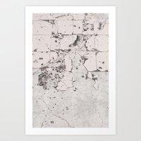 Broken White Tile Art Print