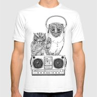 Silent Night ANALOG Zine Mens Fitted Tee White SMALL