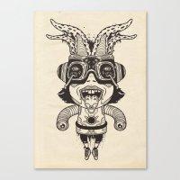 Super Acid Deformed Canvas Print