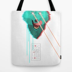 Wolf With F**king lasers Tote Bag
