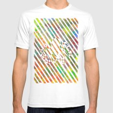 nebula 2 White Mens Fitted Tee SMALL