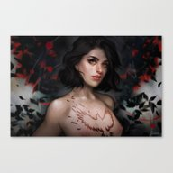 Canvas Print featuring Never Tainted by Fernanda Suarez