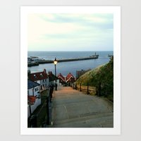 Whitby After Sun Down Art Print