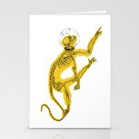 Space Monkey Stationery Cards