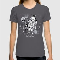 The Force Side Womens Fitted Tee Asphalt SMALL