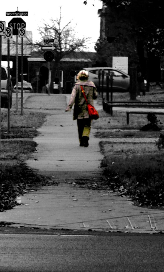 Woman Walking Art Print