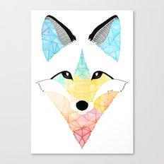 Fox multicolor Canvas Print