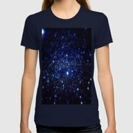 Stars Womens Fitted Tee Navy SMALL