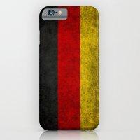 German National flag - Vintage retro patina iPhone 6 Slim Case