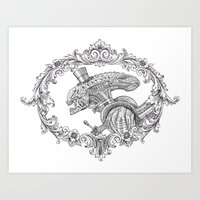 Fancy Xenomorph Art Print