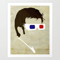 Minimalist Doctor Who  - The Tenth Doctor Art Print